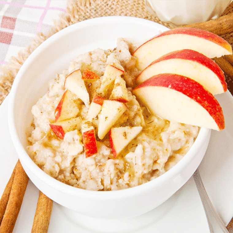 Apple cinnamon oats bowl