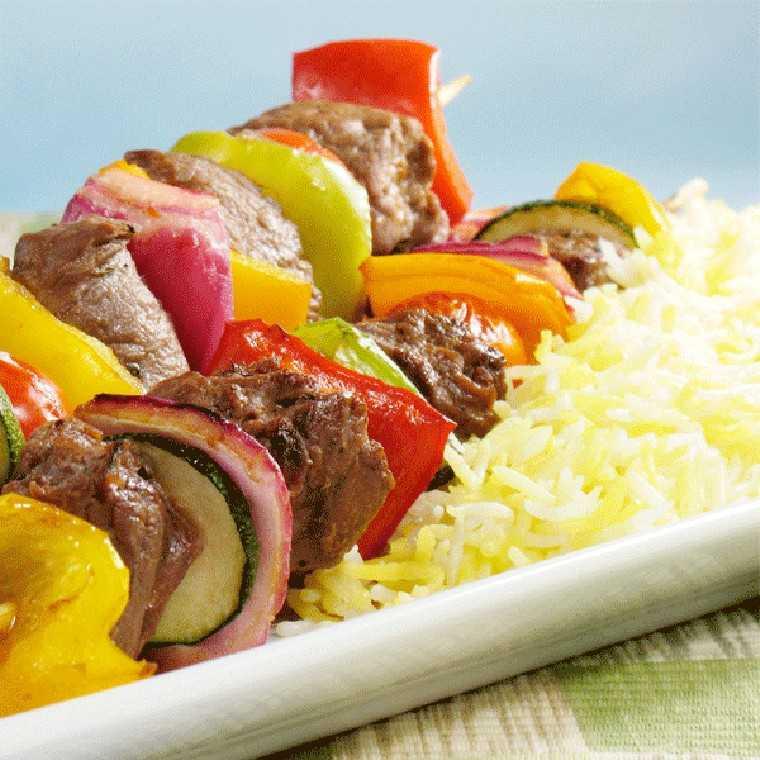 Zucchini rice kebabs