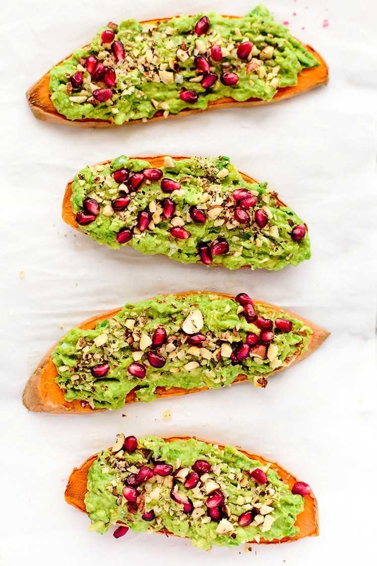 Avocado and pomegranate toast