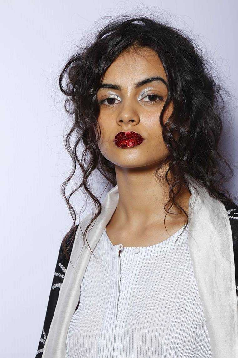 Textured lips for Sunita Shanker