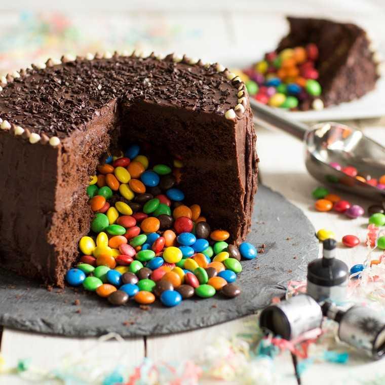 Trick or treat chocolate piñata cake