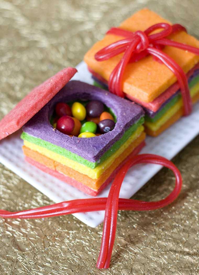 Colourful sugar box cookies