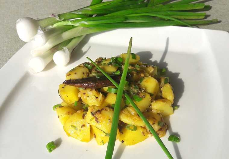 Potato-spring onion vegetable