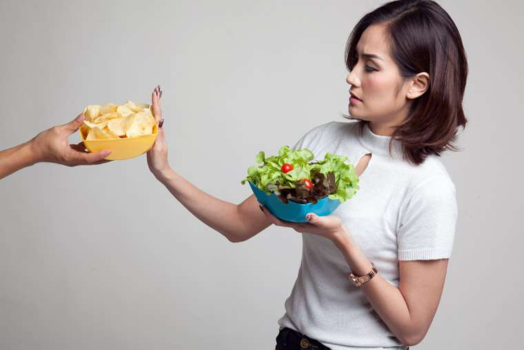 saying no to junk food