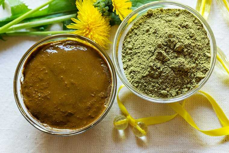 Henna and multani mitti hair pack