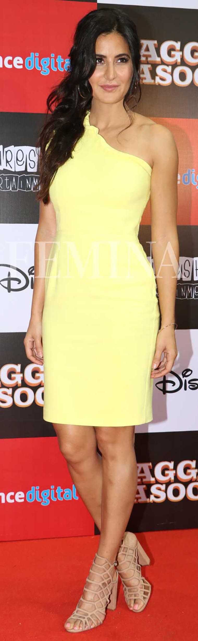 Katrina Kaif canary yellow Black Halo dress