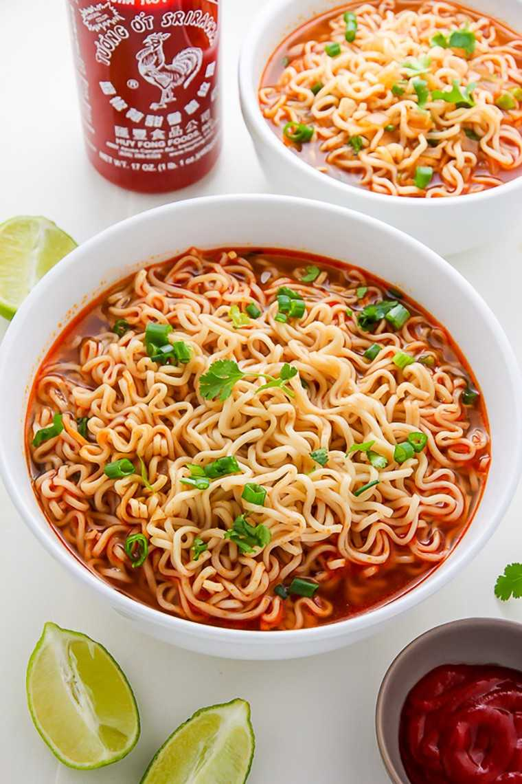 Spicy Sriracha ramen bowl
