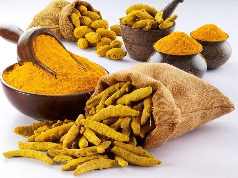 Bengal gram flour and turmeric