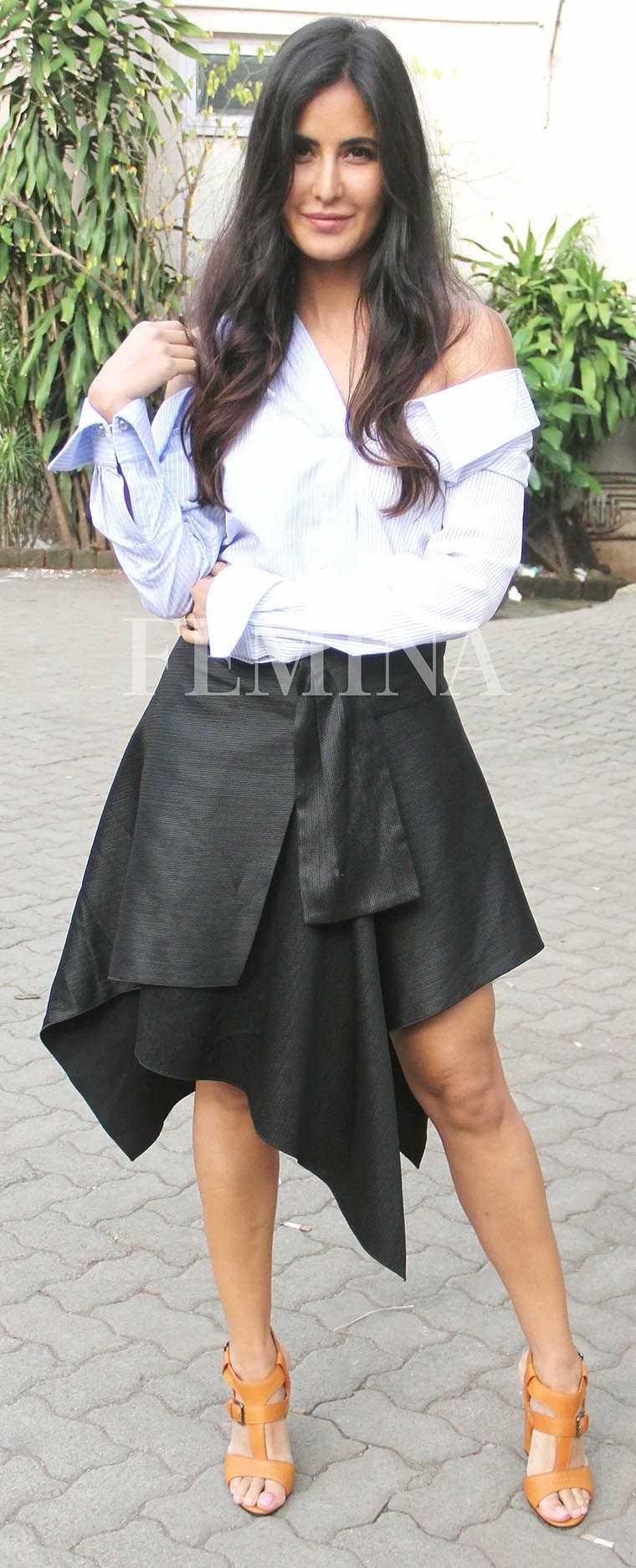Katrina Kaif deconstructed Proenza Schouler skirt