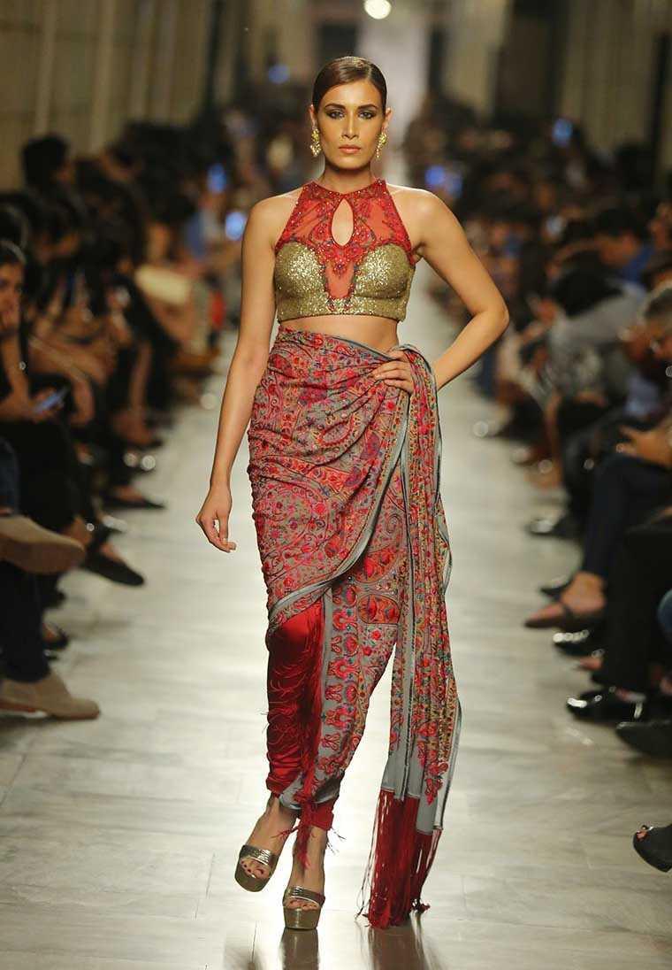 Kashmiri embroidered sari