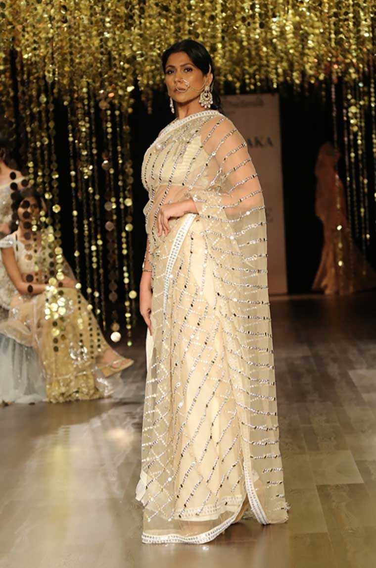 sheer sari