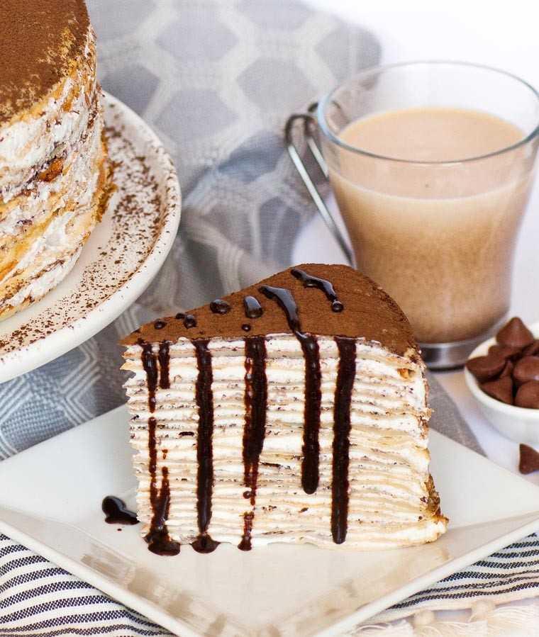 Tiramisu crepe cake by @tatyanaseverdayfood