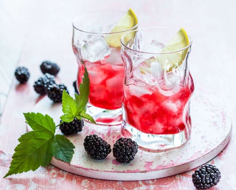 Blackberry, lemon and ginger