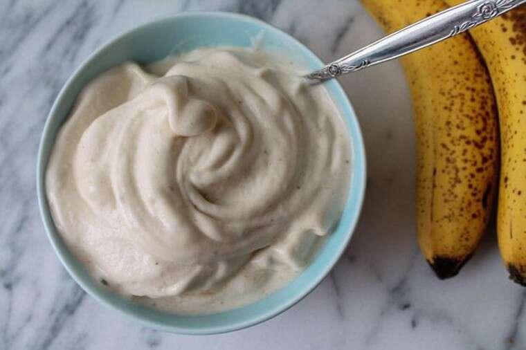 Banana and cream