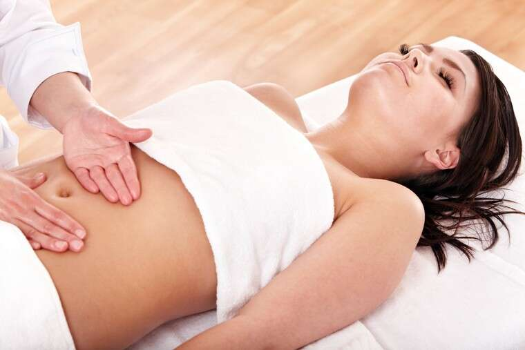 woman taking masage