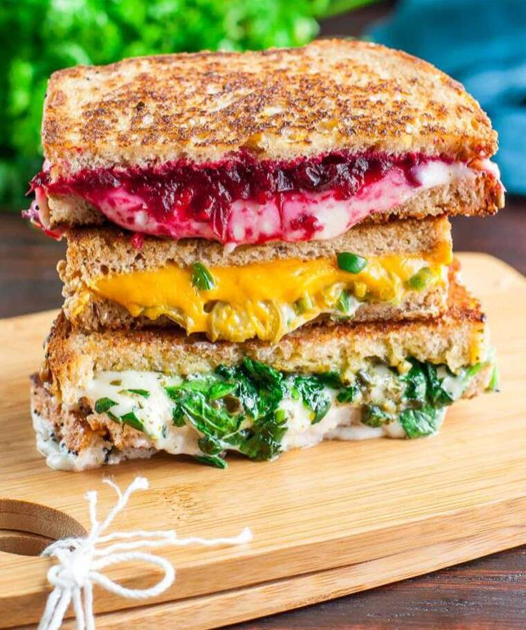 vegan version of grilled cheese sandwich