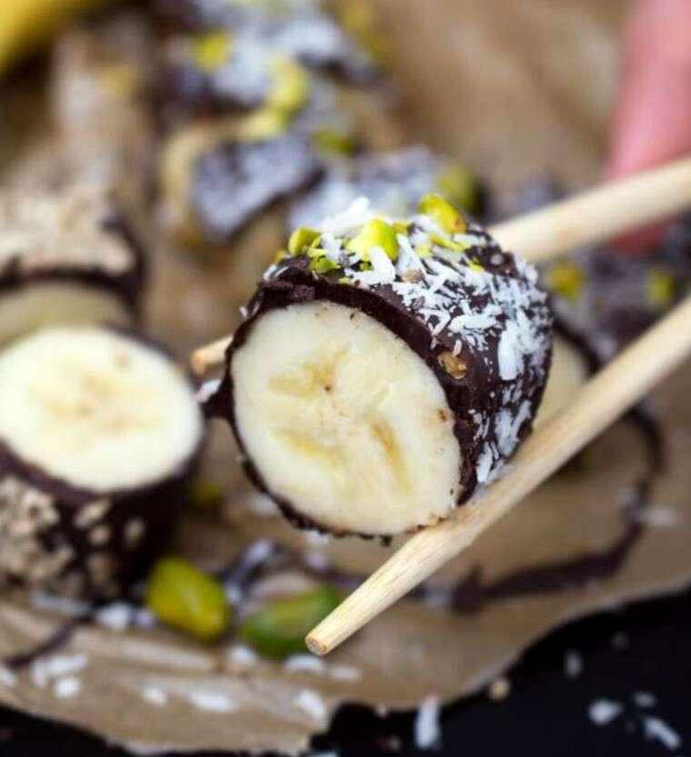 chocolate banana sushi