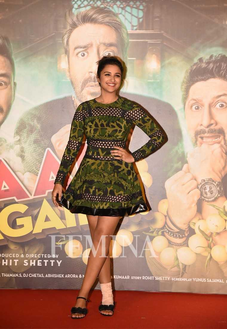 Parineeti Chopra printed Surbhi Shekhar dress