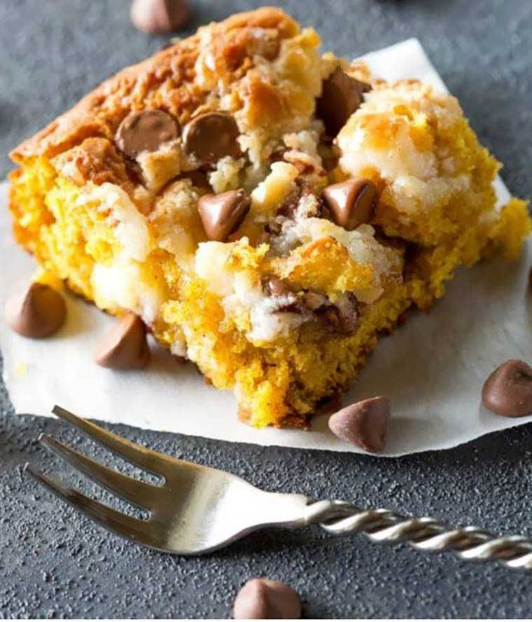 Another delicious pumpkin earthquake cake