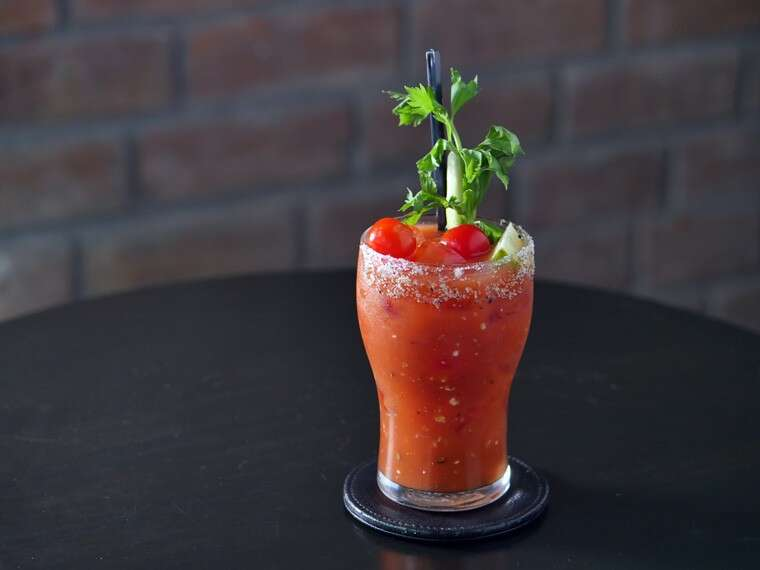 Halloween Bloody Mary at Ciclo Café, Gurgaon.
