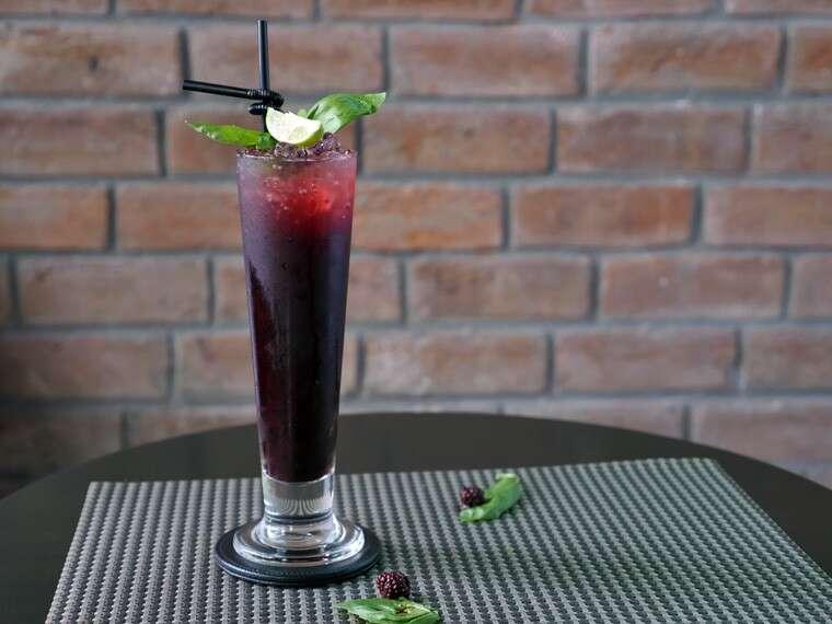 Blueberry basil lemonade at Ciclo Café, Gurgaon.