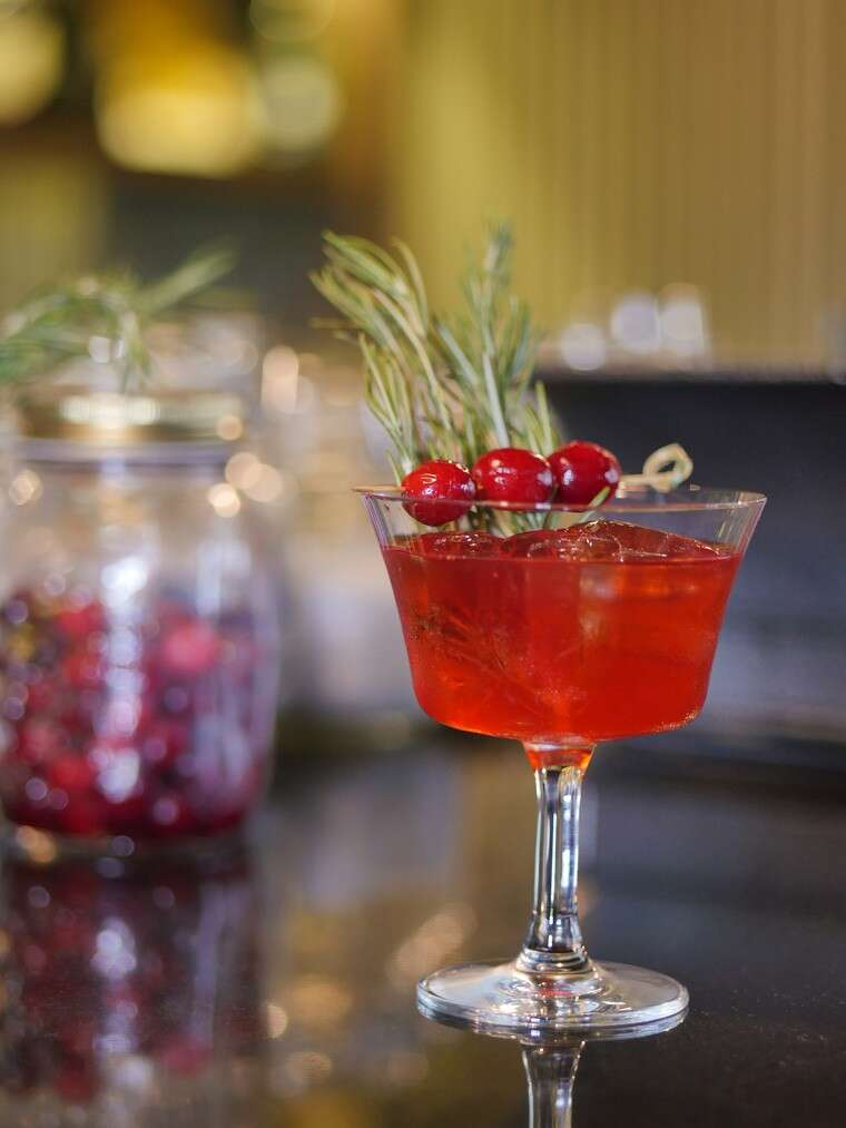 Gin-based cranberry and rosemary smash at Ciclo Café, Gurgaon.