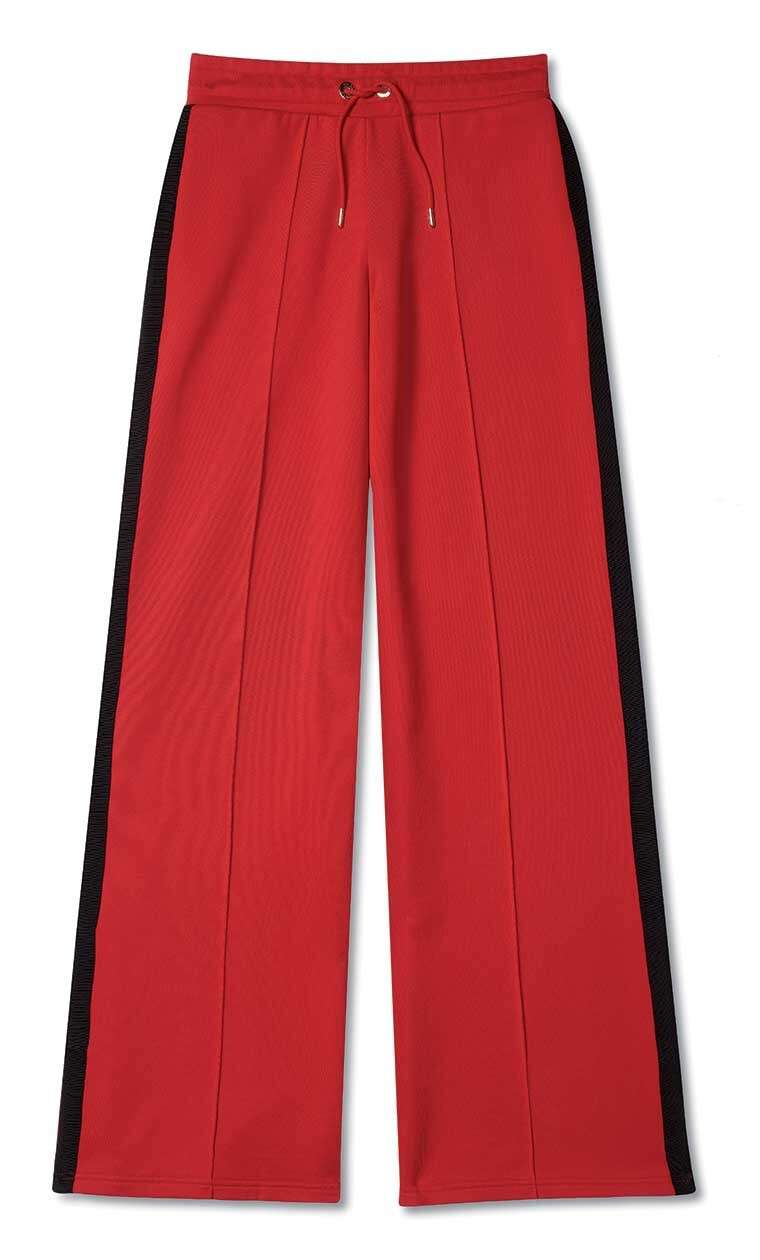 Polyester blend trousers