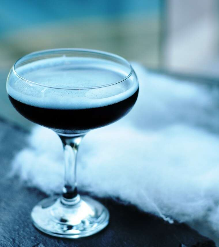 Dark Concoction—a mix of kala khatta, spices, lime, sugar and vodka at STAX Bar, Hyatt Regency, Mumbai.