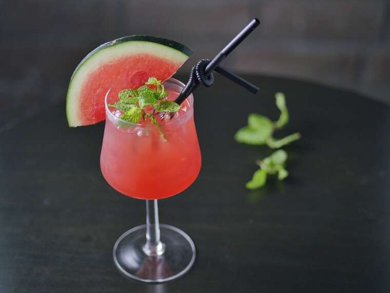 Watermelon and mint mocktail at Ciclo Café, Gurgaon.