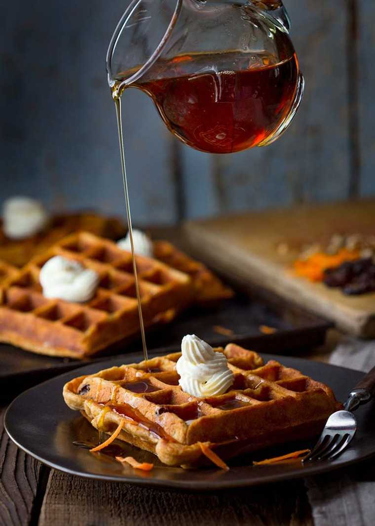 Carrot cake waffle