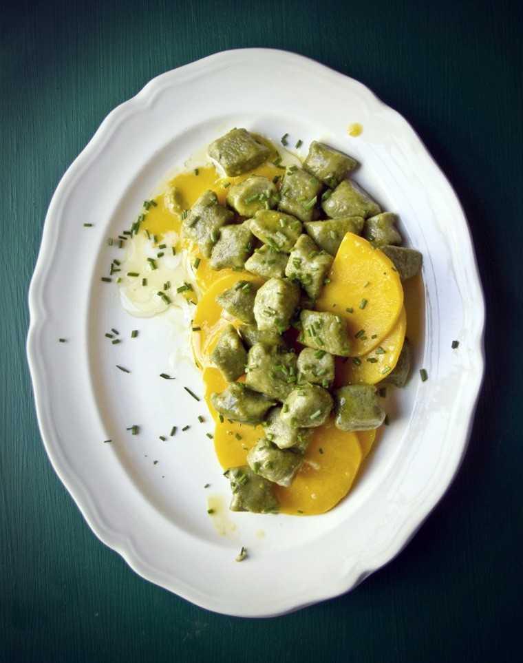 Matcha green tea gnocchi @princesstofu.com
