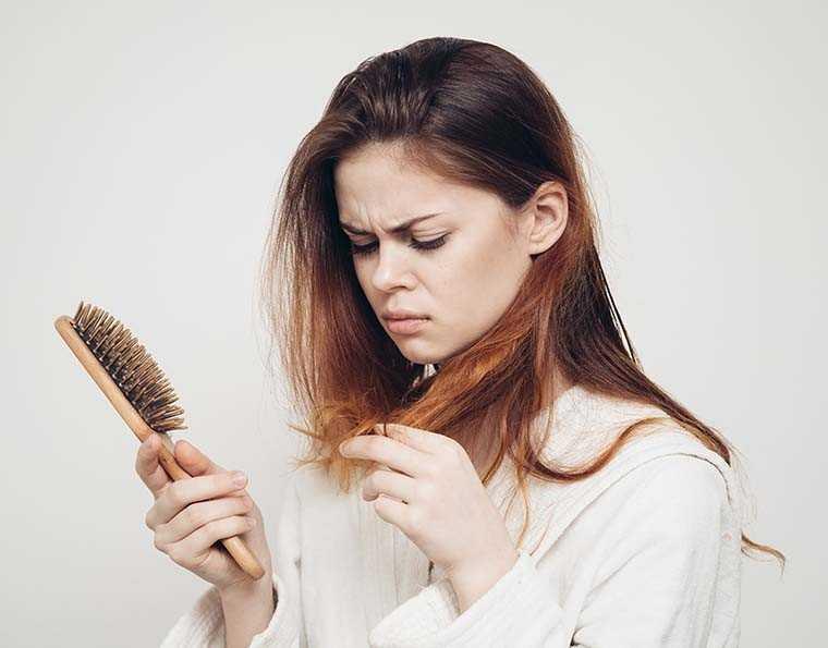 Backcombing or hair teasing