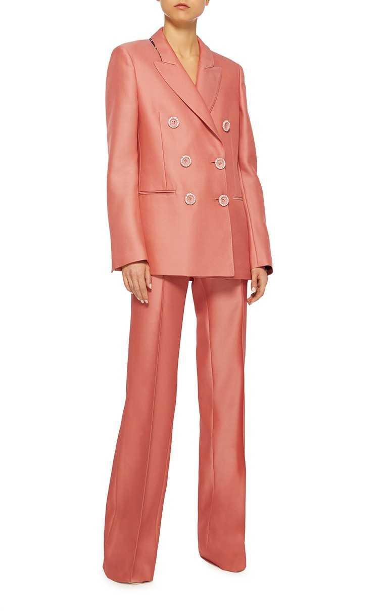 Wool-silk blend pantsuit