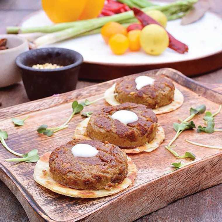 Beetroot shikampuri kebab