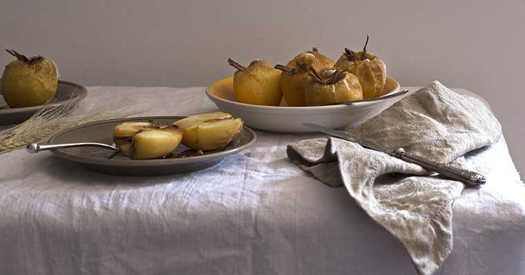 Maple and orange poached pears