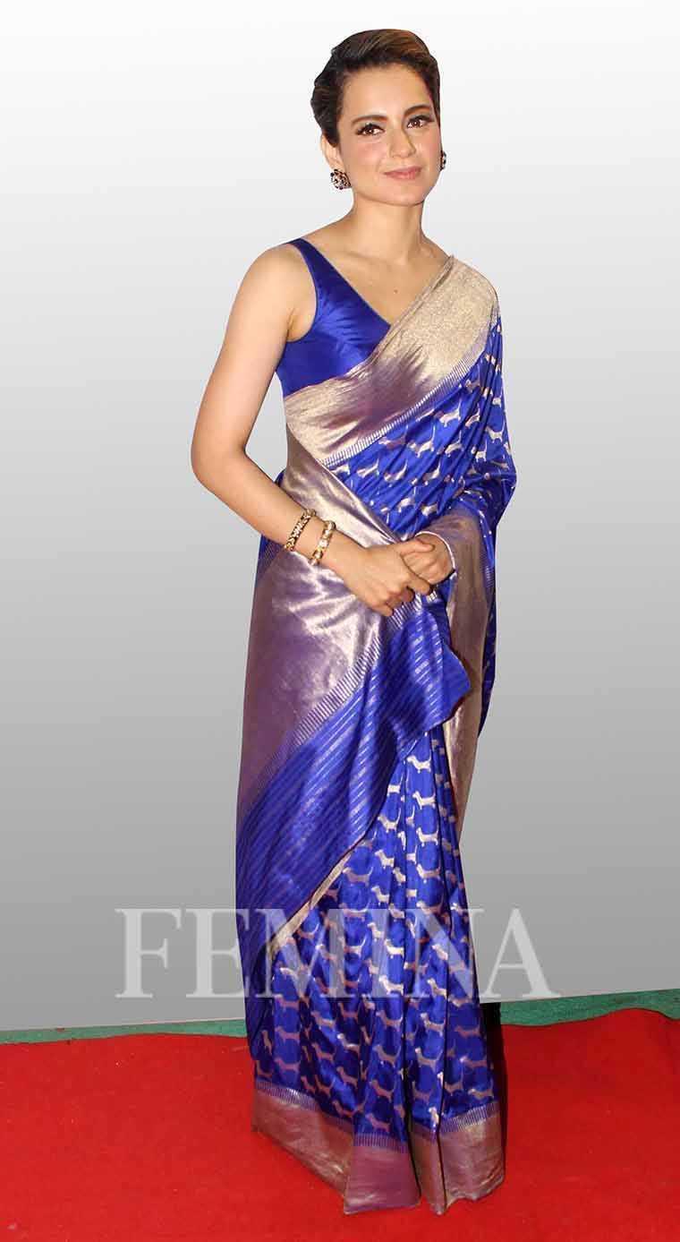kangana-ranaut-umang-show-sari-style
