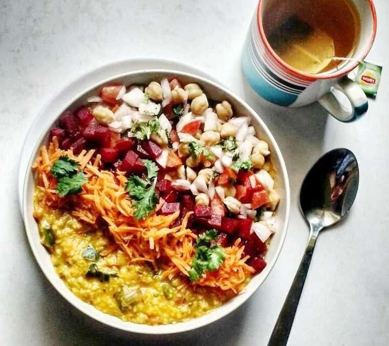 masala oats veggie salad