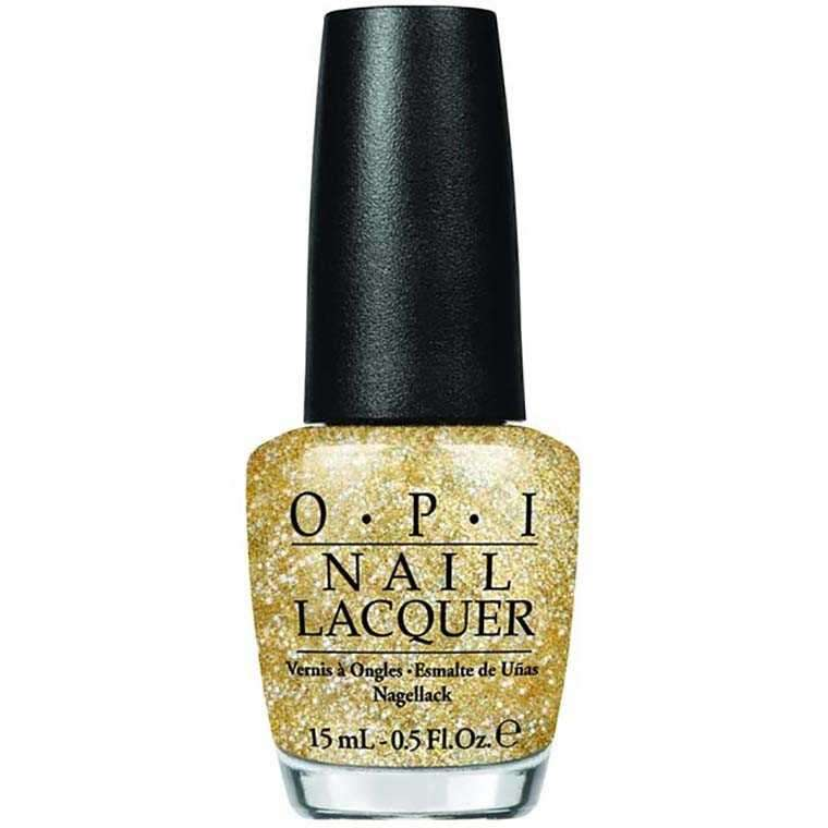 Paint your nails with gold like OPI nail lacquer in A Mirror Escape
