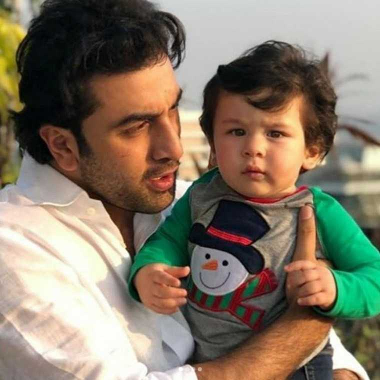 Taimur with Ranbeer kapoor