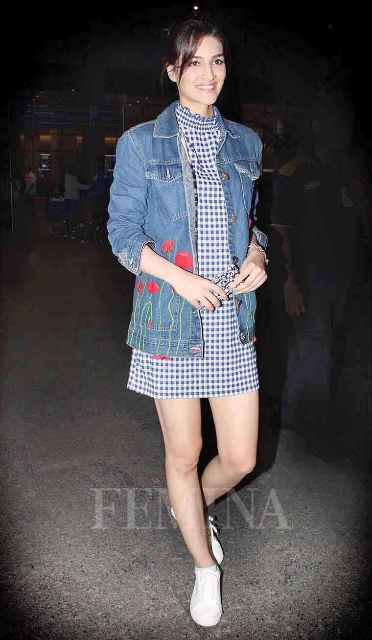 Kriti Sanon paired her embroidered denim jacket