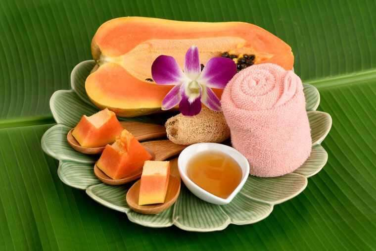 Papaya and honey mask