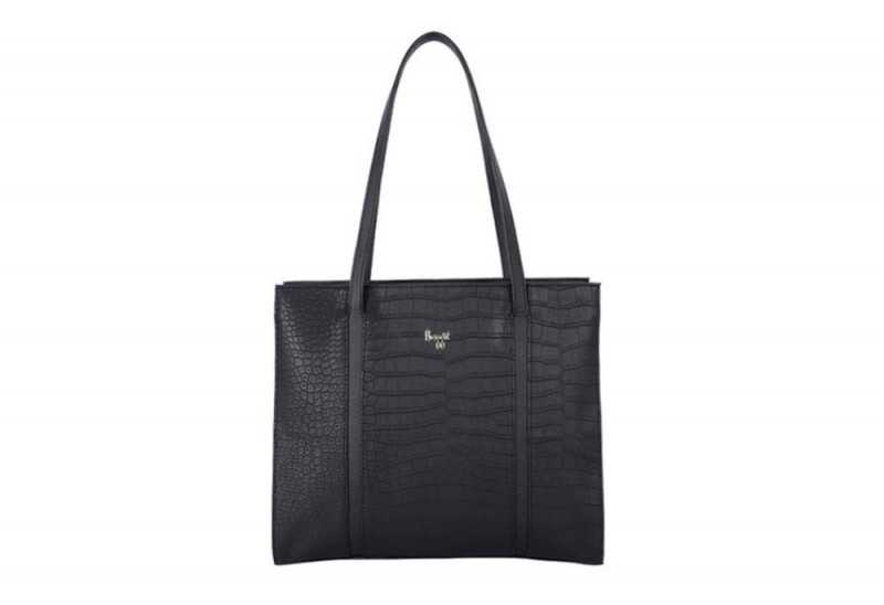 Baggit Cecily Black Textured Shoulder Bag