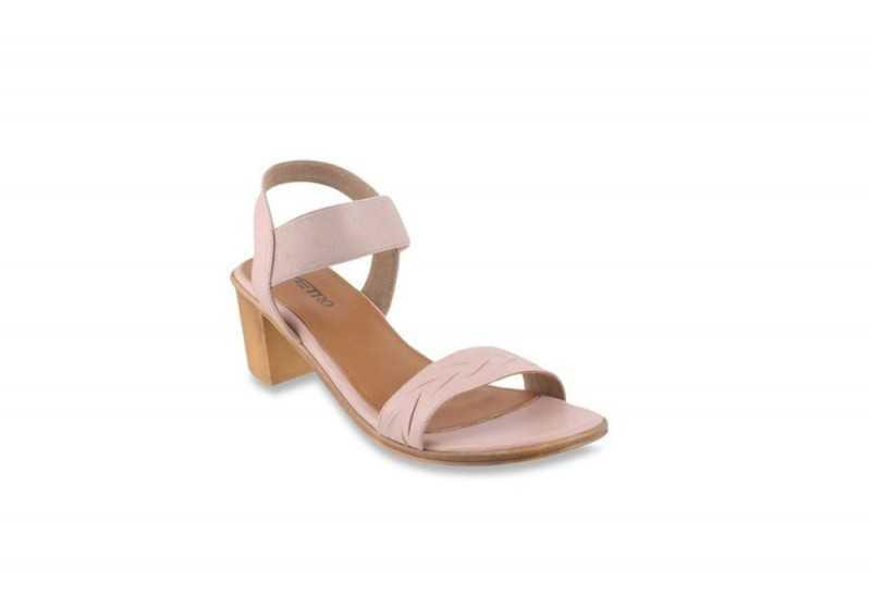 Metro Blush Pink Sling Back Sandals