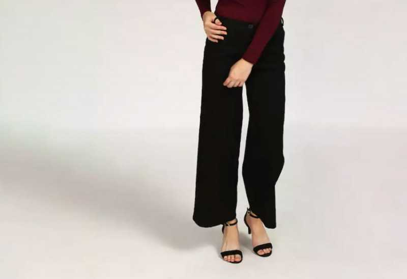 Black Welma Wide Legged Pants