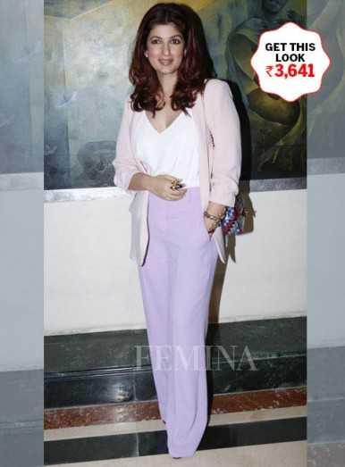 Twinkle Khanna looks pretty in pastels