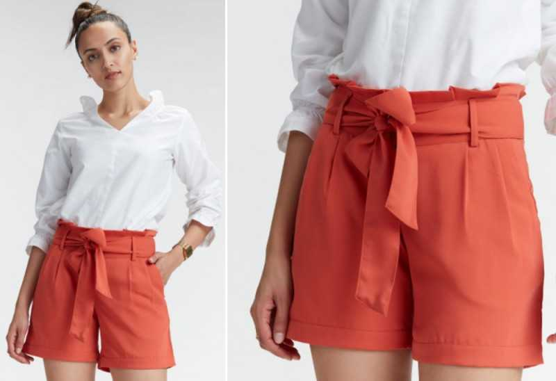 CORAL SELF TIE SHORTS