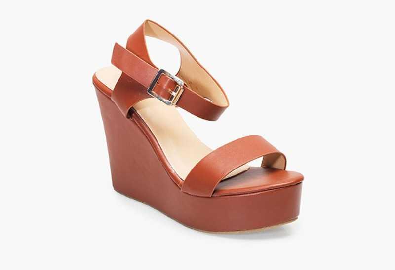 Basic Tan Wedge Sandals