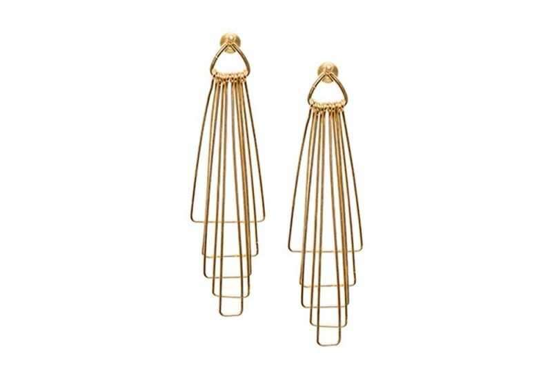 Multi Layered Gold Earrings