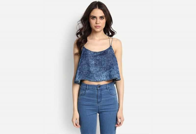 Blue Arola Denim Crop Top