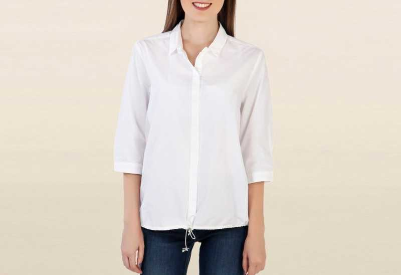 Chemistry White Solid Shirt